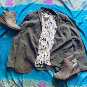 5/30🌿H&M green casual blazer jacket